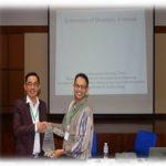 Mr. Marasigan presenting a Plaque of Appreciation to Dr. Ahmad