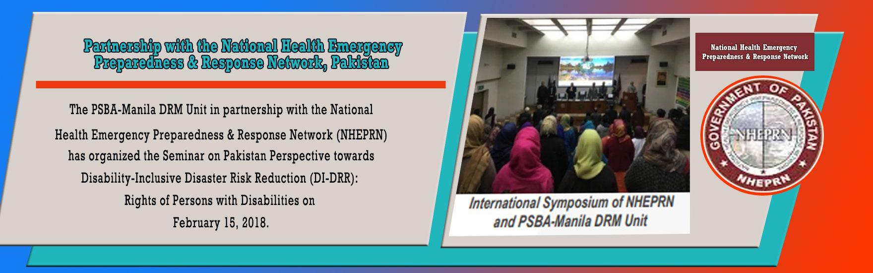 Partnership with the National Health Emergency Preparedness & Response Network, Pakistan